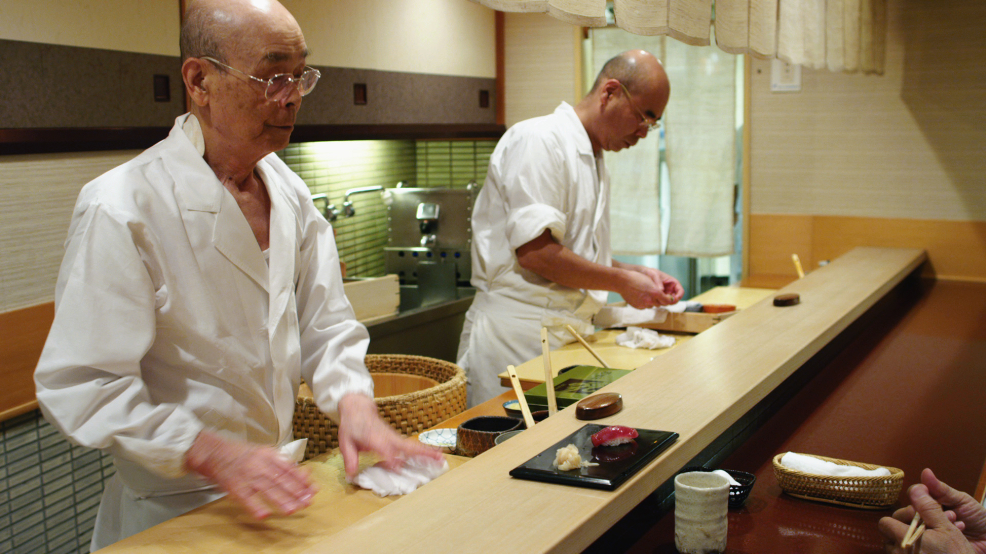 Jiro Ono (left) and his son, Yoshikazu.