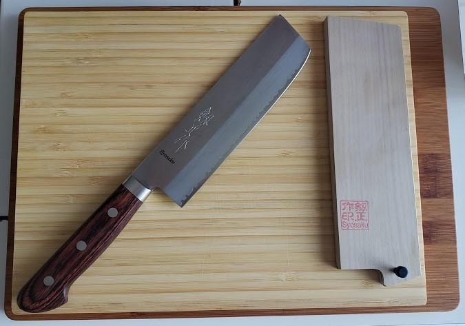 Syosaku-Japan Nakiri knife with saya sheath